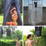 JYCRA solaire Camp Douche Sac, 5gallons/20L en PVC solaire Chauffage extérieur de douche portable Camping Bain Sac pour la randonnée, voyages d'été, douche, Noir de la marque JYCRA image 4 produit