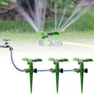 KING DO WAY Arroseur Rotatif sur Pic Automatique Arrosage Irrigation pour Gazon Pelouse Jardin Vert de la marque KING DO WAY image 0 produit