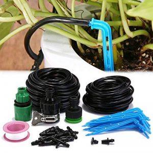 KING DO WAY Kit d'arrosage Goutte à Goutte, Kits d'irrigation Système d'Arrosage DIY pour Jardin Serre (10 Mètres Tuyau avec 15 Compte-Gouttes Bleu) de la marque KING DO WAY image 0 produit
