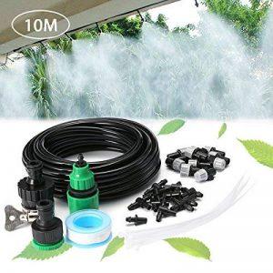 KING DO WAY Kits d'irrigation, Système d'arrosage DIY Pour Irrigation Arrosage Brumisation Jardin Serre (10 Mètres Tuyau avec 10 Micro Buses de Gicleurs) de la marque KING DO WAY image 0 produit