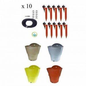 Kit 10 Goutteurs avec supports Iriso + 1 Réserve d'eau 12L Kit10re12LGris de la marque IRISO image 0 produit