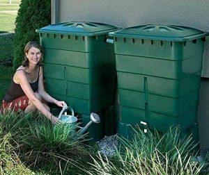 Kit de 2 cuves à eau rectangulaire 300 L coloris vert, H 92 x L 80 x P 66cm -PEGANE- de la marque PEGANE image 0 produit