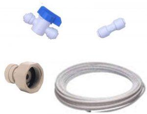 Kit de Raccordement Frigo Américain pour toutes marques de réfrigérateurs américains (raccords + tuyau) de la marque Water Filter Man Ltd image 0 produit