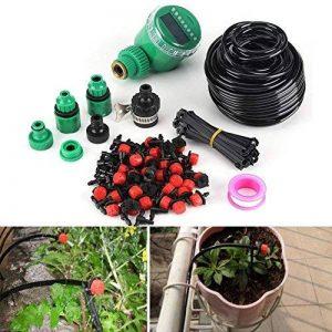 Kits d'irrigation Micro Drip Minuteur d'Arrosage Automatique DIY ,Kits de Système d'Irrigation Tuyau d'Arrosage Extérieur Adaptateur de Connecteur de Robinet Irrigation Arrosage Brumisation Jardin de la marque Zerodis image 0 produit