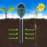 Kuman KP01 Lot de 2 Testeurs 3 en 1. Testeur D'Humidité dans le sol, Testeur de Lumière et d'acidité PH. Pour les plantes, Utilisation Intérieure et Extérieure, pour l'entretien des plantes, Hygromètre, Contrôleur D'eau pour Les Pelouses des Jardins ou Le image 1 produit