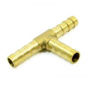 laiton T Barbus Tuyau connecteur adaptateur pour 8mm Diamètre intérieur Air Tuyau de gaz de la marque Sourcingmap image 0 produit