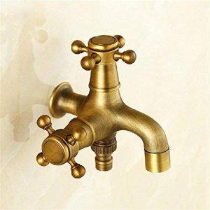 Le robinet robinet de lave-a-b-dual, à l'aide de la souris et appuyez sur le balcon extérieur piscine froide unique 4:cuivre double robinet antique de l'assurance de la qualité de la marque Petit robinet image 0 produit