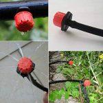 lidahaotin 100pcs réglable en plastique goutteurs Micro Emitter irrigation goutte à goutte Arroseur Système d'arrosage automatique de pulvérisation d'eau Buse de la marque image 3 produit