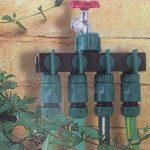 lidahaotin 4 Way Tap 3/4 po Tuyau d'arrosage Tuyau séparateur d'eau d'irrigation goutte à goutte en plastique connecteur robinet agricole séparateur Valve de la marque lidahaotin image 4 produit