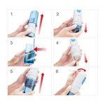 LifeBasis Jet dentaire de voyage, hydropulseur sans fil pour les dents, irrigateur Oral 200ML USB Rechargeable avec 5 buses pour Nettoyage oral et nasal - bleu de la marque LifeBasis image 3 produit
