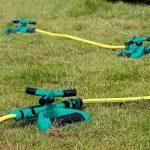 LUXJET Arroseur de Jardin Rotatif, Jardin Automatique Arroseur à Gazon Rotatif à 360°3 Têtes Rotatives,Adapté pour Serre Pelouses Jardin Potager de la marque LUXJET image 2 produit