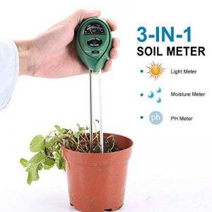 LYPULIGHT Jardin Hygromètre 3 en 1 Testeur de Sol Kits pour Humidité, PH, Lumière du Soleil ( sans batterie Nécessaire ) de la marque LYPULIGHT image 0 produit