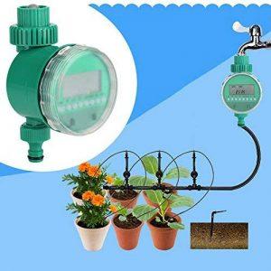 Minuterie d'arrosage, Minuterie d'eau Electrique Automatique avec Système de Contrôle d'irrigation Numérique Affichagepour Jardin Pelouse Patio de la marque zerone image 0 produit