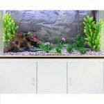 monstershop Fish Tank Aquarium & accessoires pour armoire, blanc naturel, gravier, plantes, 4cm 300L de la marque MonsterShop image 3 produit