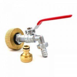 Multitanks - Raccord femelle S60x6 laiton - robinet laiton chromé 3/4 pouce avec raccord rapide laiton - 3/4'' BSP de la marque Multitanks image 0 produit