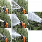 NBD® Tuyau d'arrosage, 25 feet / 7.5m Tuyau d'arrosage Rétractable + pistolet d'arrosage 7 fonctions, Tuyau d'arrosage souple et léger extensible jusqu'à 3 fois avec Connecteur de robinet Connecteur rapide et Suceur multifonctions – Orange (25FT) de la ma image 4 produit