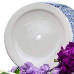 Nicola Printemps Porcelaine Pot de fleurs avec goutte à goutte Plateau avec goutte à goutte Plateau en bleu Imprimer - Diamètre 203mm de la marque Nicola Spring image 2 produit