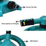 NUZAMAS 3bras Arroseur et de minuteur d'arrosage–Ensemble automatique contrôleur de système d'irrigation pelouse d'arrosage Arroseur rotatif à 360° jusqu'à 120minutes de la marque NUZAMAS image 3 produit