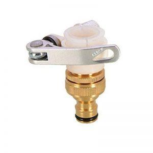 Ounona 3/4ou 1/2universel robinet à visser jardinage Adaptateurs de tuyau d'eau rapide Raccord de tuyau raccords Adaptateurs de robinet laiton pour machine à laver de cuisine de salle de bain Lavabo Robinet (style J) de la marque OUNONA image 0 produit