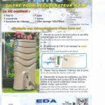 PACK Récupérateur d'eau de pluie CAPT'EAU pour conduits circulaire (GRIS) + FILTRO de la marque Capt'eau image 3 produit