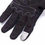 Paire Noir Gants Doigt Complet Protection L Moto Vélo Sport Femme Homme Moto gants de protection Fonctionnement de l'écran tactile de la marque IRON JIA'S image 4 produit