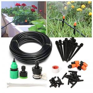Pathonor Nouveau DIY Irrigation Automatique Micro Goutte Jardin Automatique Pulvérisation Goutte À Goutte Irrigation Tuyau 15M + 5 + 10 Buse Atomisation Orange Tige One-Piece Modèle + Port Plat Interface 3 Ports 5 + Interface 3 Ports Positive 10 de la mar image 0 produit