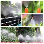 Pathonor Nouveau DIY Irrigation Automatique Micro Goutte Jardin Automatique Pulvérisation Goutte À Goutte Irrigation Tuyau 15M + 5 + 10 Buse Atomisation Orange Tige One-Piece Modèle + Port Plat Interface 3 Ports 5 + Interface 3 Ports Positive 10 de la mar image 2 produit