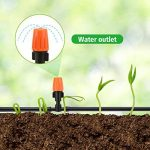 Pathonor Nouveau DIY Irrigation Automatique Micro Goutte Jardin Automatique Pulvérisation Goutte À Goutte Irrigation Tuyau 15M + 5 + 10 Buse Atomisation Orange Tige One-Piece Modèle + Port Plat Interface 3 Ports 5 + Interface 3 Ports Positive 10 de la mar image 4 produit