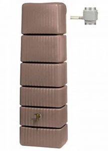 PEGANE Récupérateur d'eau slim 300l taupe avec collecteur eco - Dim : H 182 x L 58 x P 37cm de la marque PEGANE image 0 produit