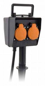 Piquet 2 prises 2P+T câble H07RN-F 3G1,5mm² IP44 + programmateur de la marque Zenitech image 0 produit