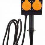 Piquet 2 prises 2P+T câble H07RN-F 3G1,5mm² IP44 + programmateur de la marque Zenitech image 4 produit