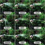 Pistolet d'arrosage Métal tuyau Pulvérisateur de Jardin | JUMONAR Pistolet Arrosoir avec 9 formes, Haute Pression - Réglable du Débit D'eau - Robuste et Puissant pour Lavage de Voiture, Arrosage de Jardin/ Pelouse/ Animal de familier de la marque JUMONAR image 3 produit