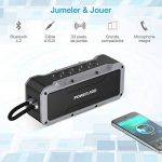 POWERADD Enceinte Bluetooth Portable, Haut-Parleur Waterproof avec 4 Speakers en 36W Total Main Libre Basse Perfomante pour Android, iPhone et Autres Appareils Bluetooth - Gris de la marque POWERADD image 3 produit
