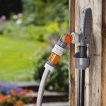 """Prise d'eau avec nez de robinet articulé de GARDENA: point de prélèvement d'eau hors sol pour la tuyauterie ou le système de gicleurs, fixation variable, aquastop, filetage mâle 3/4"""" (8254-20) de la marque Gardena image 2 produit"""