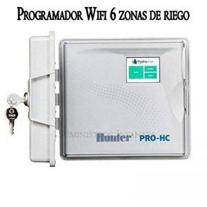 Programmateur extérieur Wifi électrique Hunter 6zones. Programmateur d'arrosage hydrawise contrôleur Via Wifi depuis quelque partie du monde depuis son mobile iPhone ou Android, et depuis un ordinateur. La jusqu'à 6stations d'arrosage avec electroválvul image 0 produit