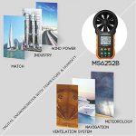 Protech MS6252B Anémomètre numérique Testeurs de température d'humidité Compteurs USB Ordinateur de poche LCD Électronique Mesureur de volume d'air Rétroéclairage de la marque Protmex image 4 produit