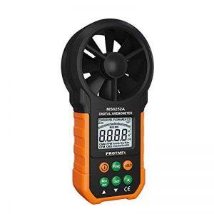 Protech MS6252B Anémomètre numérique Testeurs de température d'humidité Compteurs USB Ordinateur de poche LCD Électronique Mesureur de volume d'air Rétroéclairage de la marque Protmex image 0 produit