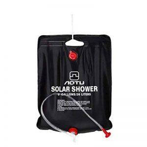 Providethebest Douche d'extérieur Sac d'eau 20L Portable Camping Randonnée Paquet chauffage solaire bain de poche Kits de voyage merveilleux pour AOTU de la marque Provide The Best image 0 produit