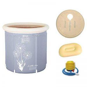 Pumpink Baignoire Baignoire Adulte Baignoire Gonflable Baignoire Épaissir Support En Plastique Baignoire Pliante Baignoire Baignoire Seau ( Color : Gray , Taille : 65*70 ) de la marque Pumpink image 0 produit