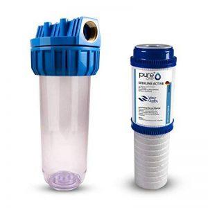 pureone sas1sediactive Kit. 1de soin pour système de filtre à eau 10pouces. 2en 1et boîtier Filtre à charbon actif. sédiments Plus sedilime Active Cartouche de filtration. Pour fontaine, eau de pluie, citerne de la marque Pure One image 0 produit