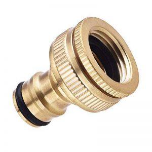 Raccord fileté pour tuyau d'arrosage 1/2''~3/4'' -- Laiton de la marque Jwqidi image 0 produit