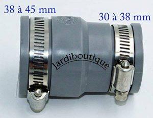 Raccords réduction multi-matériaux en PVC souples FF de 38 à 45 mm et 30 à 38 mm gris - Jardiboutique de la marque Jardiboutique image 0 produit