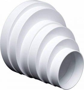 Réducteur Universel pour systèmes de ventilation Ø 80–160mm Réducteur tuyau connecteur réduction Ø 80100120125, 150, 160mm Passage Tube rond de ventilation d'aération Canal. rdra. de la marque MM TECHNIK image 0 produit