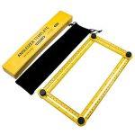 Règle Multi-Angles Mesure Pliable, ERAY Outil Angle-Izer en ABS, Écrous et Boulons Métallique, Échelle Gravée au Laser, Mesure d'angle CM et IN, Angle et Formes Variés, Sac de Protection de la marque ERAY image 5 produit