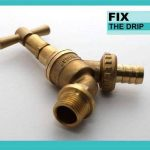 Réglage 1/5,1cm Tuyau Union Bib Robinet de jardin extérieur de robinet Y Compris DCV sécurisée contre les pertes d'eau de la marque FixtheDrip image 2 produit