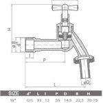 Robinet de jardin extérieur tuyau union Robinet de puisage 1/5,1cm en laiton poli de la marque BFG image 1 produit
