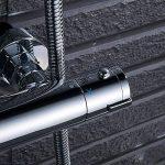 Robinet thermostatique de douche sortie haute et basse Moderne Rond de la marque Interlink-UK image 1 produit