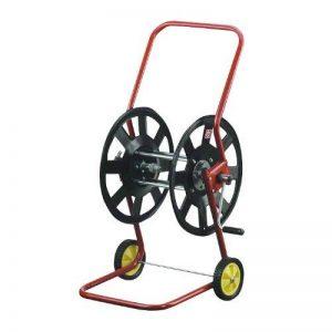 ROMULUS Xclou Dévidoir de tuyau d'arrosage grande capacité en acier inoxydable et plastique – Enrouleur sur roues pratique et mobile – Dévidoir à manivelle pour l'arrosage du jardin 50 m de la marque ROMULUS image 0 produit