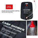 Sac d'Eau de Douche Solaire 20L Chauffage Solaire en PVC avec Buse pour Voyages Camping en plein air de la marque VGEBY image 2 produit