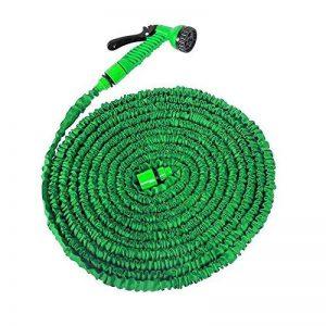 Sailun® Tuyau de jardin flexible Flexi tuyau avec multifonctions douche avec 7fonctions, extensible tuyau d'arrosage pour lavage de voiture nettoyage irrigation travail de jardin 60m vert de la marque SAILUN image 0 produit